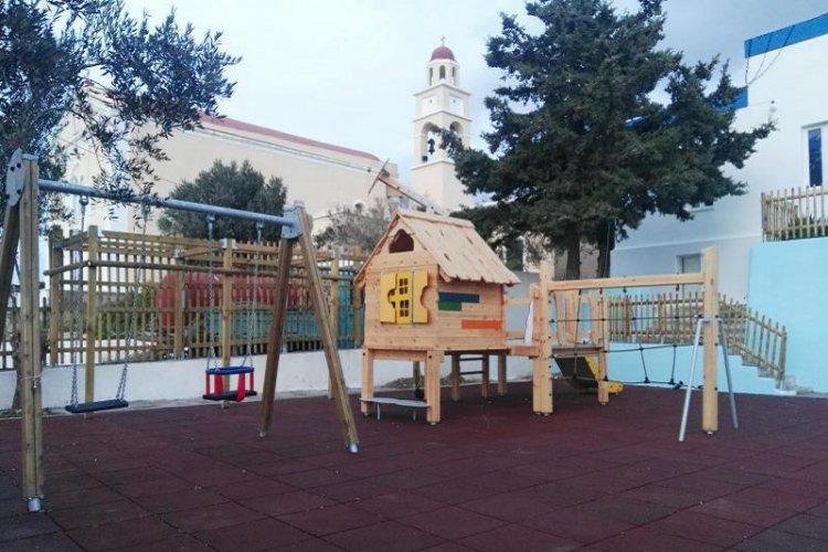 Municipality of Syros: Έναρξη λειτουργίας της παιδικής χαράς Γαλησσά