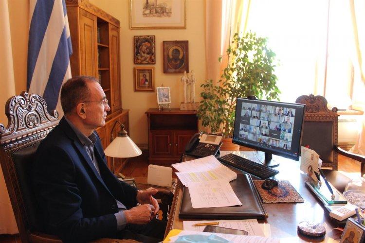 GREECE 2.0 Recovery and Resilience Plan: Ο Δήμαρχος Σύρου συμμετείχε σε τηλεδιάσκεψη για το Εθνικό Σχέδιο Ανάκαμψης και Ανθεκτικότητας