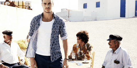 , H Mykonos GUESS yeni SS16 reklam kampanyasının ayarıdır (Videolar)
