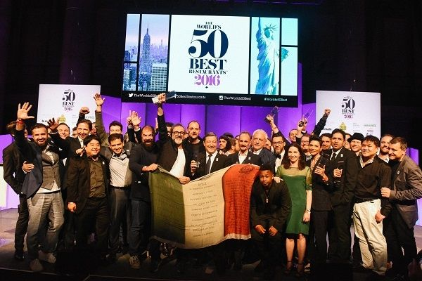 , Η διάσημη λίστα των «The World's 50 Best Restaurant», του 2016