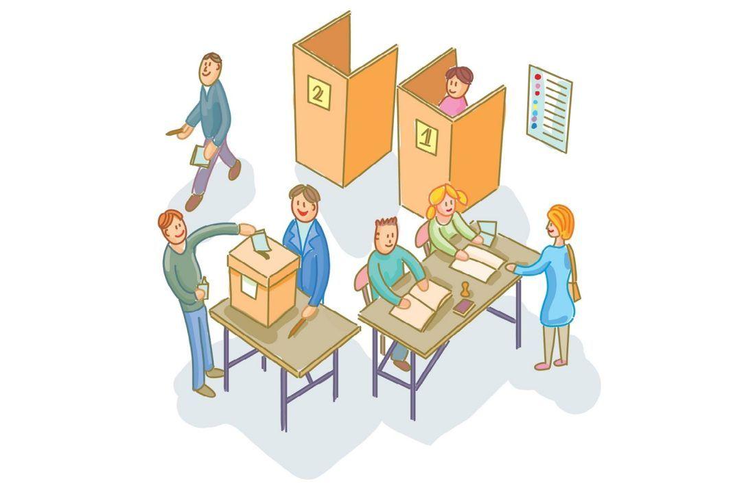 , Πίνακας μέ τα Εκλογικά Τμήματα που ψηφίζουν οι ψηφοφόροι της Χώρας Μυκόνου και Άνω Μεράς