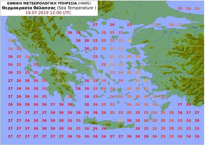 , Weather!! Tomorrow go beach!! The temperature of the sea in Greece!!!