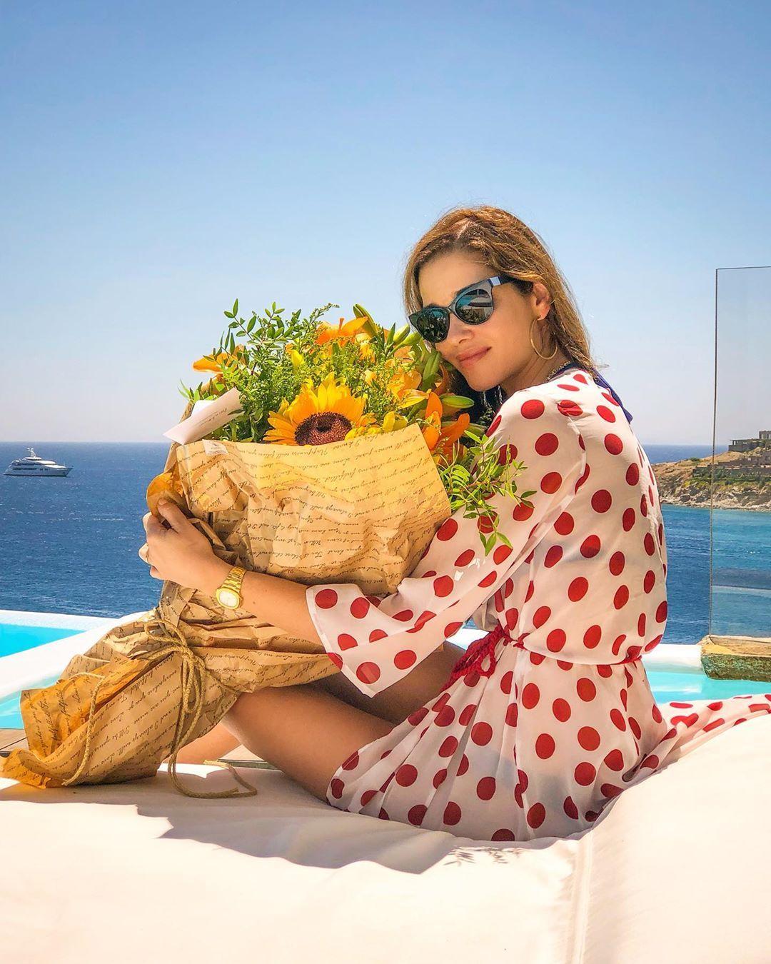 , Ana Beatriz Barros - Κarim El Chiaty: Mykonos for wedding anniversary three years!!