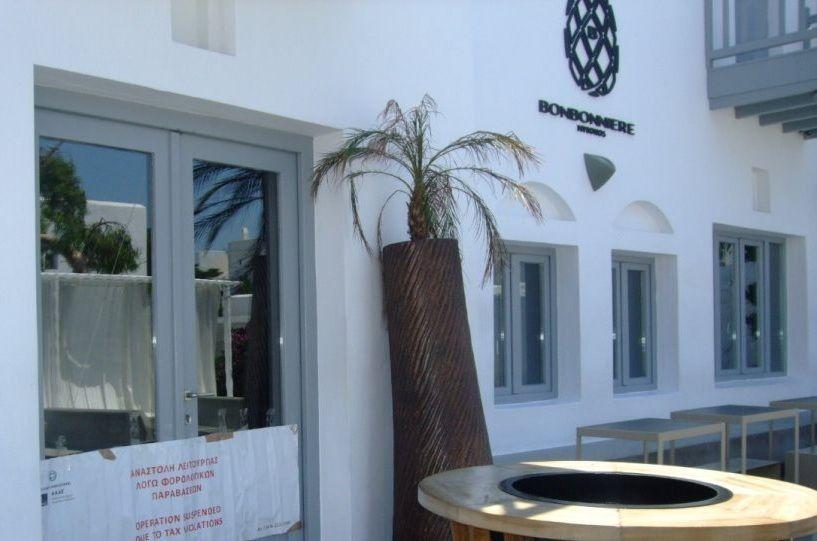 , مبدأ التفويض: قفل 48 ساعة لانتهاكات الضرائب النادي الشهير في ميكونوس