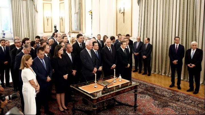 , Ορκίστηκαν στο Προεδρικό Μέγαρο τα μέλη της νέας κυβέρνησης