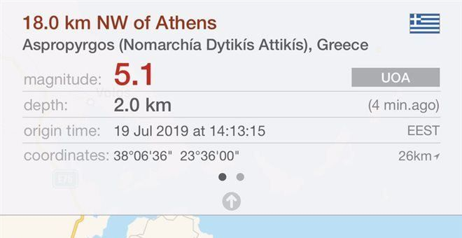 , Powerful earthquake now in Athens!! According to Geodynamics size was 5,3 Richter!!