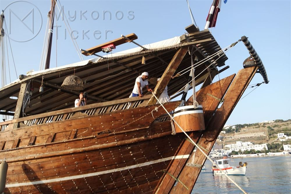 , ahşap gemi inşa yelkenli Katar Sanat tarihi, Quai Mykonos demirledi, Katar Dünya Kupası teşvik etmek 2022 (Resimler + vids)