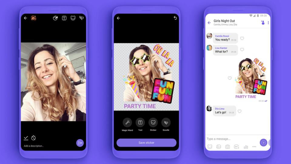 , Il Viber Rakuten presenta nuova funzione Crea una Sticker!! Make Your Own Adesivi!!