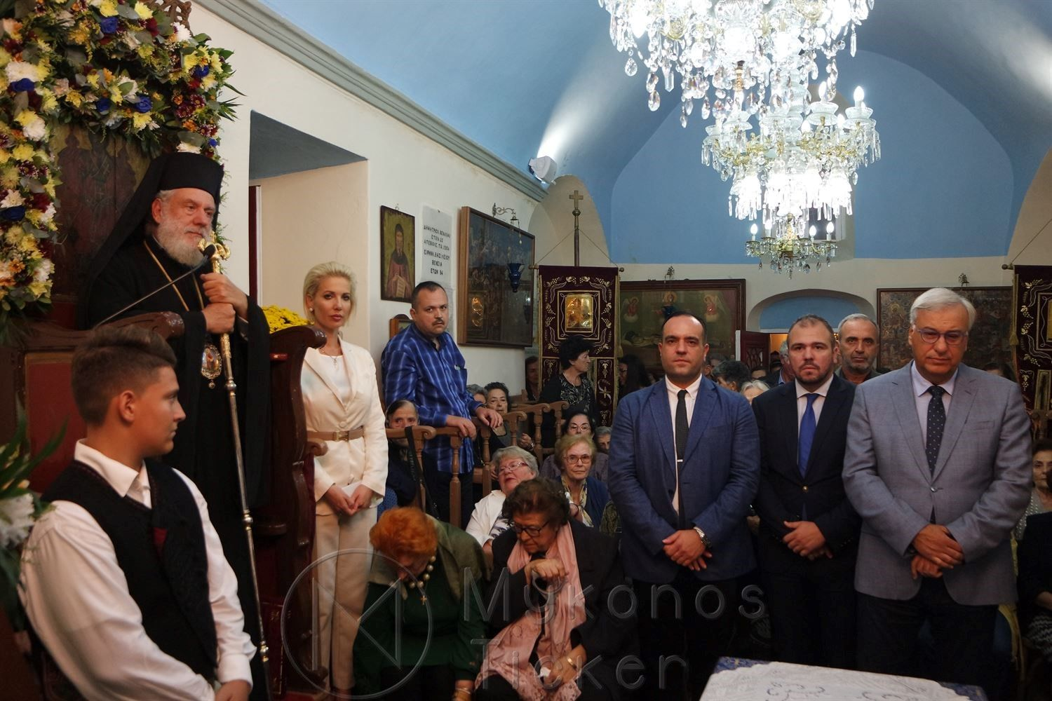 , Great Vespers Archieratic in celebrating LN. St. Gerasimos in Mykonos (pictures & videos)