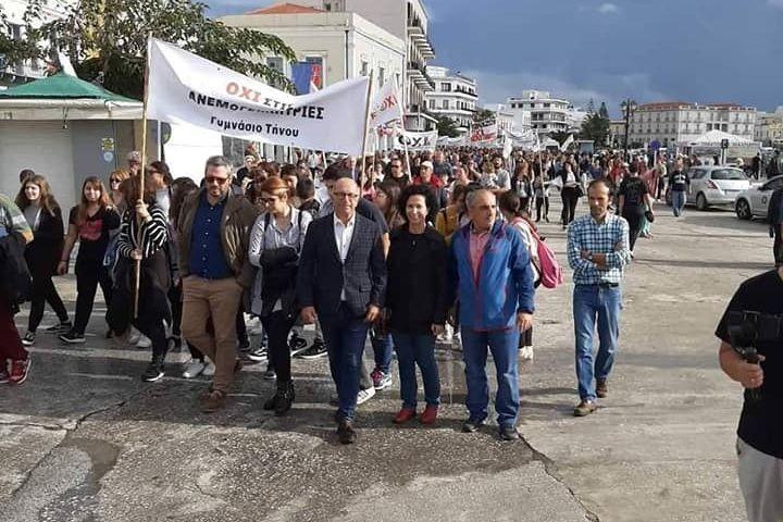 , Στο παντηνιακό συλλαλητήριο ενάντια στην εγκατάσταση ανεμογεννητριών ο Γιώργος Λεονταρίτης