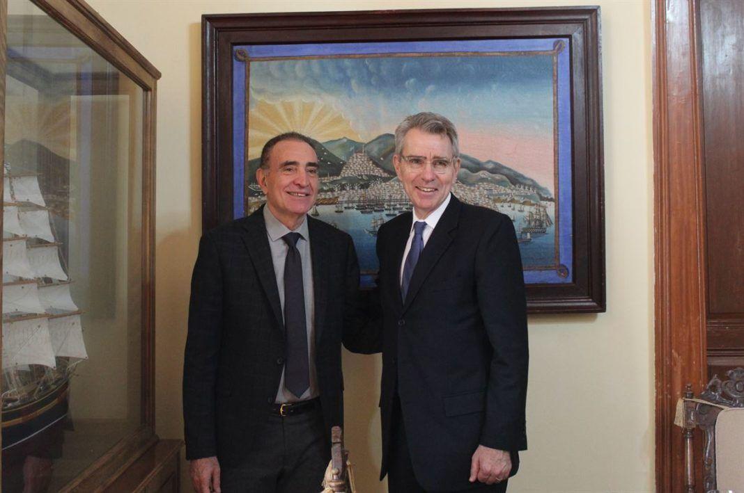 , Συνάντηση Νίκου Λειβαδάρα με τον Geoffrey R. Pyatt και στελέχη της Αμερικανικής Πρεσβείας
