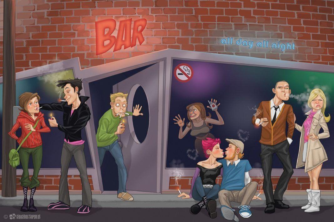 , Smirting!! Η νέα τάση που αναπτύσσεται ραγδαία στα bar, μετά την καθολική απαγόρευση του τσιγάρου!!